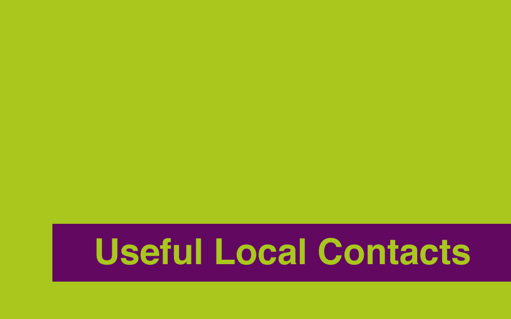 Useful Local Contacts