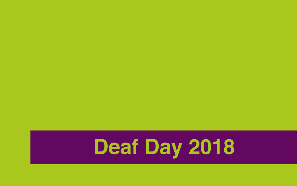 Deaf Day 2018